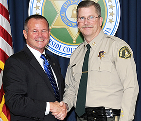 Sheriff Stan Sniff and Captain Michael Lind of Riverside County Sheriff Dept
