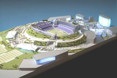 Los Angeles football stadium