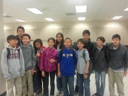 The South Pointe Middle School MATHCOUNTS team.  (Photo courtesy: Kelli Gile)