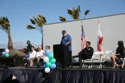 eastvale park mayor addresses crowd