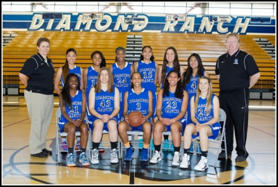 The Diamond Ranch Girls' Varsity Basketball team