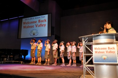 Boy Scout Troop 777 led the opening flag ceremony. (Photo Courtesy: Kelli Gile)