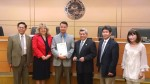 Dr. Jonathan Joe of 20/20 Optometry is honored by the council.  (Photo Courtesy: Raymond Mendoza)