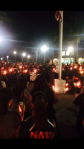 Hundreds come together in great sadness at the Candlelight Vigil on Sun., Oct. 5, at Eleanor Roosevelt High School (Photo Courtesy: Eastvale News)