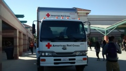 The American Red Cross vehicle/blood lab on the ERHS Campus (Photo By:  Emily Aguilar)