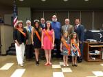 Eastvale's City Council posing with the Eastvale Queens (Photo By Adriana Agredano)
