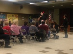 : Mayor Ike Bootsma makes a presentation at Eastvale's Town Hall Meeting on Jan. 27. (Photo Courtesy: Eastvale News)