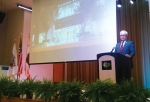 (Photo By: Raymond Mendoz)a Mayor Steve Tye delivers the annual State of the City Address concerning the City's major projects and plans.