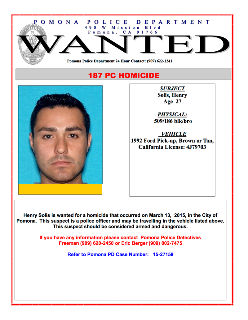 L A  Police Officer Wanted In Homicide Case | ABCpr Media