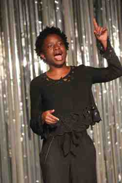 (Photo Courtesy:  Victoria Robles) Asari Aibangbee at the BSU Showcase