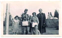 (Photo Courtesy: Voortman's Egg Ranch) The Voortman Family circa 1956. Voortman's Egg Ranch is located at 13960 Grove Avenue in Ontario. You can reach them at (909) 465-1319. They are open Monday through Saturday, 8 a.m. to 5 p.m.