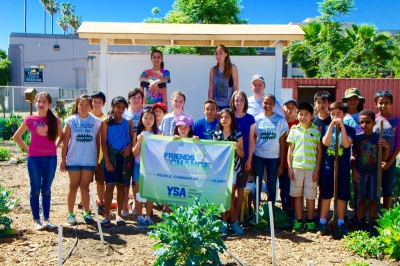 Photo Courtesy:  Kelli Gile Chaparral students made improvements at a community garden through a Disney Friends for Change grant.