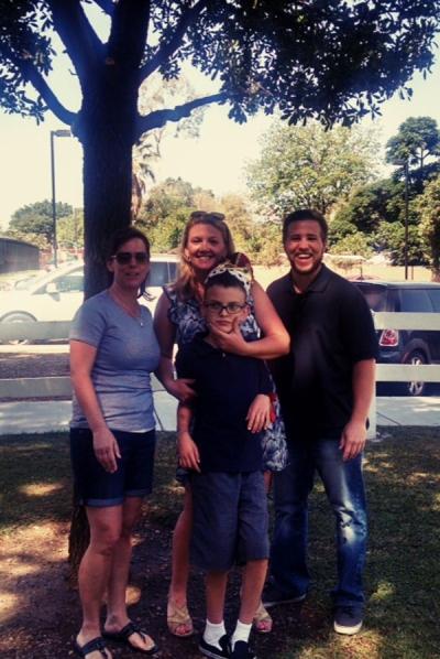 Photo Courtesy:  Eastvale News Photo Caption:  (L to R) Rebecca Fransen, Jennifer and Nicholas Madrigal and Chris Gutman