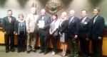 Photo By: Raymond Mendoza City Council members proclaim May 2015 to be Water Awareness Month to encourage limited water use during the drought – shown with (L-R) Walnut Valley Water District President Ted Ebenkamp, Scarlett Kwong, Barbara Carrera, Edward Hilden and Allen Wu.