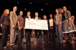 Photo Courtesy: Kelli Gile 2015 Music Educator Award top-ten finalist, Steven Acciani, receives his honorarium, shown (L-R) with Assistant Supt. Dr. Michelle Harold; Assistant Supt. Dr. Matthew Witmer; Grammy Executive Education Director David Sears; Board Members Larry Redinger, Cindy Ruiz and Helen Hall; Principal Catherine Real; and Ford Motor Company Fund's Dee Dee Boykin.
