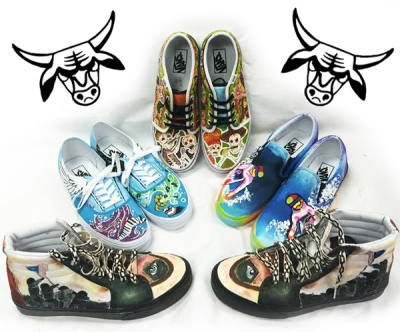 Photo Courtesy:  Kelli Gile Diamond Bar High graphic design students are currently ranked in the top 10 in the Vans Custom Culture Contest.
