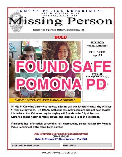 Photo Courtesy: Pomona PD