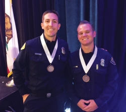 Photo Courtesy:  CVFD Bronze medalists, Andrew Simpson and Justin Number