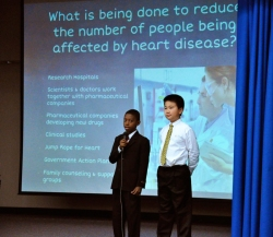 C.J. Morris fifth graders took to the stage to present impressive I.B. Exhibitions on May 14.