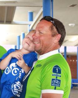 "Photo Courtesy: Jerry Davis Carter and his ""Papa"" at last year's California Coast Classic 525 Mile Ride For A Cure."