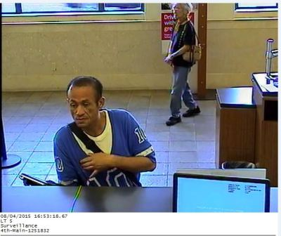 Photo Courtesy:  SAPD Alleged Bank Robber, Dia Chanh Diep, 43