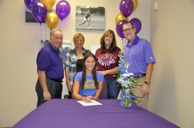 Photo Courtesy: Kelli Gile Diamond Bar High senior Jenna Lloyd signed a college national letter of intent to attend San Jose State University. Pictured with Interim Principal Denis Paul, swim coach Darlys Ankeny Grade Level Coordinator Ginger Auten, and Athletic Director Kevin Ferguson.