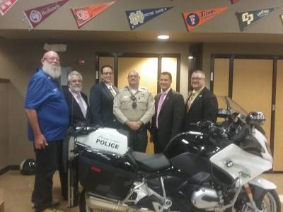 Photo By: Emily Aguilar New Eastvale Motor Cop Aaron Hownbeck was welcomed by Eastvale City Council on Thursday, Oct. 28. (Pictured L-R) Mayor Ike Bootsma, Mayor Pro Tem William Link, Councilman Adam Rush, Officer Hownbeck, Councilman Clint Lorimore and Councilman Joseph Tessari.