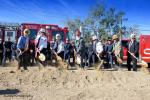 Photo by: City of Eastvale/JAB Photography City officials and CAL FIRE/Riverside County Fire Department personnel take part in the ceremonial groundbreaking on Dec. 8 for Eastvale's Fire Station No. 31.