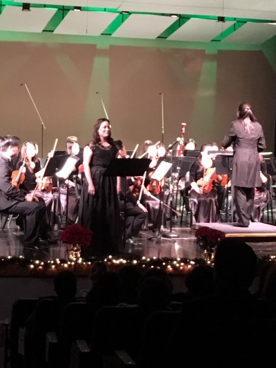 "Photo by Michael Armijo Soprano Cristina Elise Pacheco, founding WVSO board member, performs ""All Is Well"" during the annual winter concert Dec. 29."