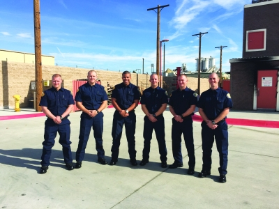 Photo Courtesy of CVFD    (L-R):  Nathan Brooks, Conner Buck, Charles Addie, Miguel Lopez, Matt Robertson, Blake Lemke.