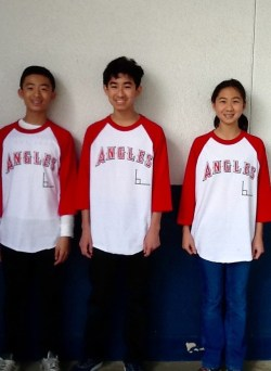 Photo Courtesy of WVUSD Top award winners Darren Chen, William Lin, and Amber Tsao