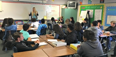 Photo courtesy:  CNUSD Auburndale Intermediate Pre-AP class
