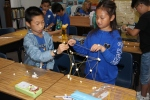 Photo courtesy: Kelli Gile Maple Hill PLTW students use engineering skills to build spaghetti and marshmallow towers.