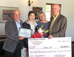 Photo courtesy: Mike Taylor Mt. San Antonio College student Kristin Ho was selected to receive the 2016 Jack Kent Cooke Transfer Scholarship