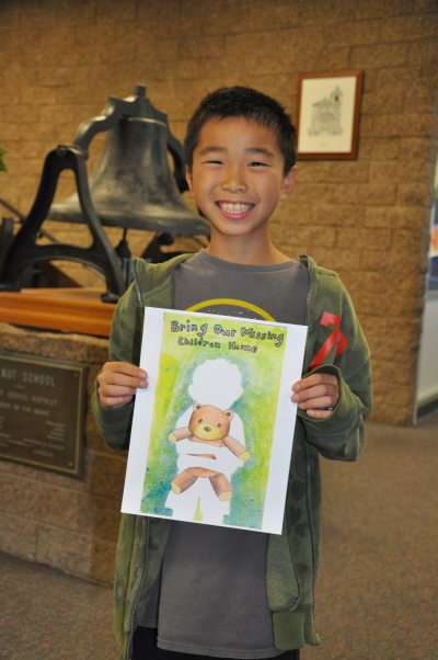 Photo courtesy: Kelli Gile Walnut Elementary student Michael Wu is the big winner in a National Missing Children's Day Poster Contest.