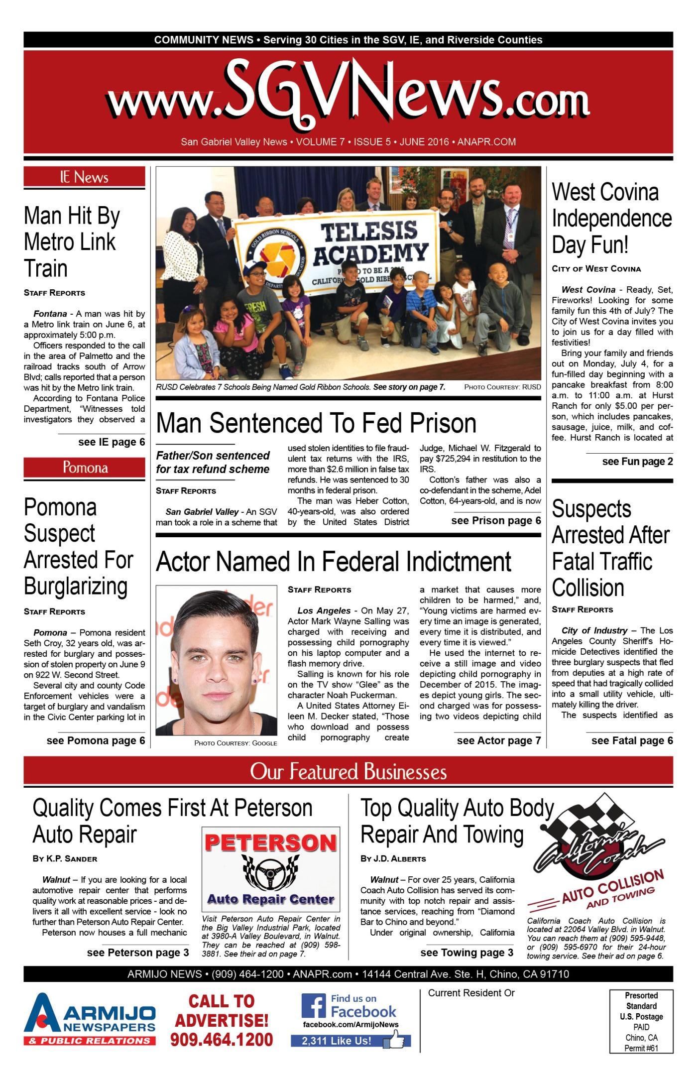 June 2016 SGV News – ABCpr Media Group -Community News, Public