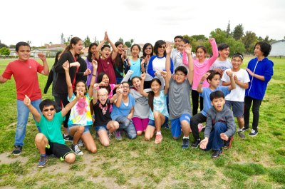 Suzanne Middle School 6th graders score a great time during field day with teacher Lauri Ujita
