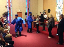 Graduates from the Boys Republic School in Chino Hills were excited to receive their diplomas.