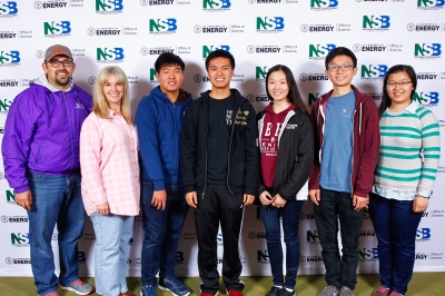 Photo courtesy: Kelli Gile Diamond Bar High took 3rd-place awards in their division at the 2016 National Science Bowl. Shown: Advisors Jose Marquez and Latitia Thomas, with students Brandon Hung, Jeff Chow, Miriam Sun, Leslie Sim, and Ben Chen.
