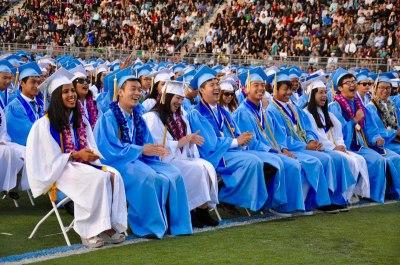 Photo courtesy: Kelli Gile Walnut High 2016 graduates enjoy speeches during ceremony.