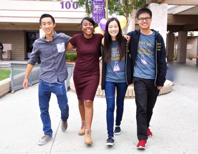 Photo courtesy: Kelli Gile Diamond Bar and Walnut High Schools are ranked among America's Most Challenging High Schools by The Washington Post. Shown: 2016 DBHS Super Star Seniors Garrett Masuda, Meanna Gray, Miriam Sun, and Jeff Chow.
