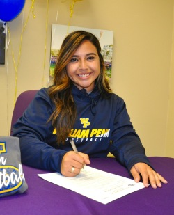 Photo courtesy: Kelli Gile Brahma Andrea Gonzalez commits to play softball at William Penn University.