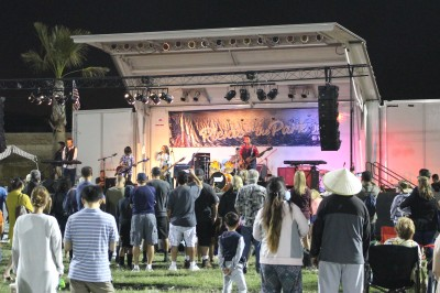 Photo By: Valerie Gutierrez Many enjoying their Saturday night with live music at Eastvale's Picnic in the Park.