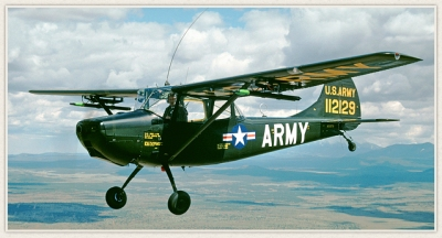 Photo courtesy: Planes of Fame The Cessna L-19/O-1E Bird Dog in action.