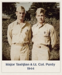Major Tashjian and l.t. Col. Purdy in 1944
