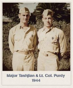 Major Tashjian and l.t. Col. Purdy in 1944