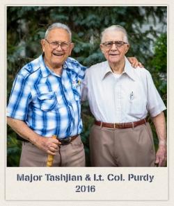 Major Tashjian & l.t. Col. Purdy in 2016