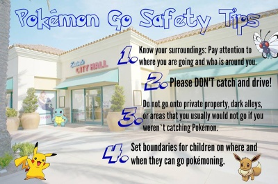 City of Eastvale wants you to remember these Pokésafety tips!