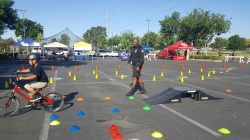 Photo courtesy: Angelica Cuen Ezekiel enjoying the obstacle course at Chino Bike Day.