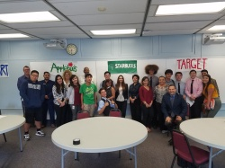 Photo courtesy: wvusd  Ron Hockwat Academies students sharpened their business skills during mock interviews with local business representatives.